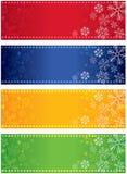 Drapeaux de flocon de neige illustration stock