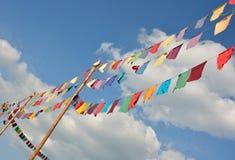 Drapeaux de flottement colorés par neutre Images libres de droits