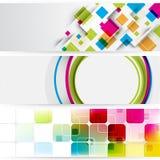 Drapeaux de fond de publicité d'énigme Images stock