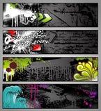 Drapeaux de graffiti Photos stock