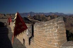 Drapeaux de Grande Muraille photographie stock libre de droits
