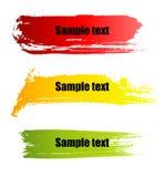 Drapeaux de grunge de peinture de couleur Photo libre de droits