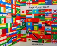Drapeaux 2012 de Jeux Olympiques de Londres Photos libres de droits