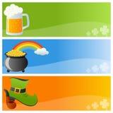 Drapeaux de jour de St Patrick s Photo stock