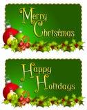Drapeaux de Joyeux Noël illustration stock