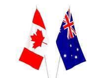 Drapeaux de l'Australie et du Canada illustration de vecteur
