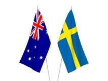 Drapeaux de l'Australie et de la Suède illustration stock