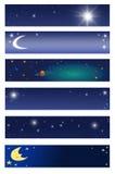 Drapeaux de l'espace Image libre de droits