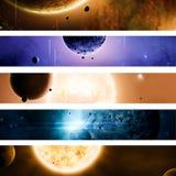 Drapeaux de l'espace et d'univers Photo libre de droits