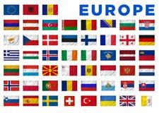 Drapeaux de l'Europe Photos stock