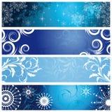 Drapeaux de l'hiver Image libre de droits