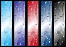 Drapeaux de l'hiver illustration stock