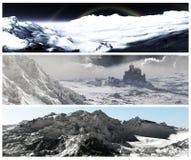 Drapeaux de l'hiver réglés Photos libres de droits