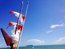 Drapeaux de l'Indonésie Photo libre de droits