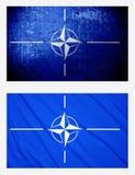 Drapeaux de l'OTAN Images stock