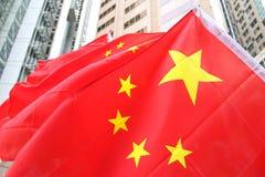 Drapeaux de la Chine Images libres de droits