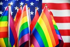 Drapeaux de la communauté de LGBT Photos stock