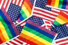 Drapeaux de la communauté de LGBT Photo stock