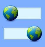 Drapeaux de la terre de planète Photographie stock libre de droits