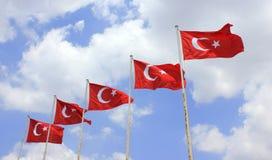 Drapeaux de la Turquie Photo stock