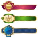 Drapeaux de luxe d'or vue