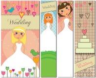 Drapeaux de mariage dans différentes couleurs Image libre de droits