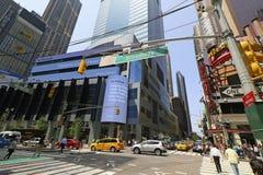 Drapeaux de Memorial Day chez Rockefeller Centerl Photos stock