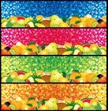 Drapeaux de Multifruit illustration stock