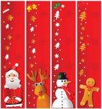 Drapeaux de Noël Photo libre de droits