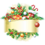 Drapeaux de Noël Images libres de droits