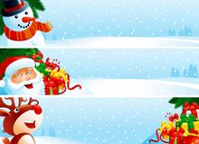 Drapeaux de Noël Photos libres de droits
