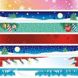 Drapeaux de Noël Photographie stock