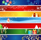 Drapeaux de Noël avec l'espace pour votre texte Photographie stock