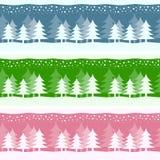 Drapeaux de Noël de l'hiver Photographie stock libre de droits