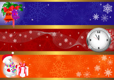 Drapeaux de Noël. vecteur. Image stock