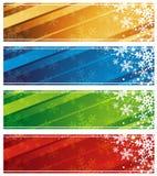 drapeaux de Noël, vecteur   Image stock