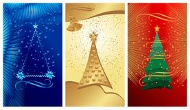 Drapeaux de Noël, vecteur de cdr Photos stock