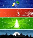 Drapeaux de Noël de l'hiver Photos libres de droits