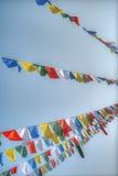 Drapeaux de ondulation colorés de prière Photo libre de droits