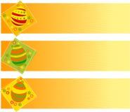 Drapeaux de Pâques illustration de vecteur