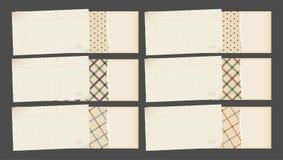 Drapeaux de papier décoratifs illustration de vecteur