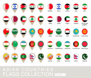 Drapeaux de pays asiatiques collection, partie Photographie stock