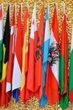Drapeaux de pays ensemble Photographie stock