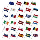 Drapeaux de pays de l'Union Européenne 2017, UE d'Etats membres illustration stock