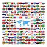 Drapeaux de pays nationaux officiels illustration stock