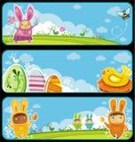 Drapeaux de Pâques Image libre de droits