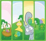 Drapeaux de Pâques de vecteur Image stock