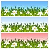 Drapeaux de Pâques ou de source Images libres de droits