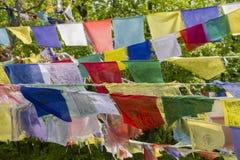 Drapeaux de prière. Image libre de droits
