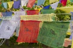 Drapeaux de prière. Photos stock